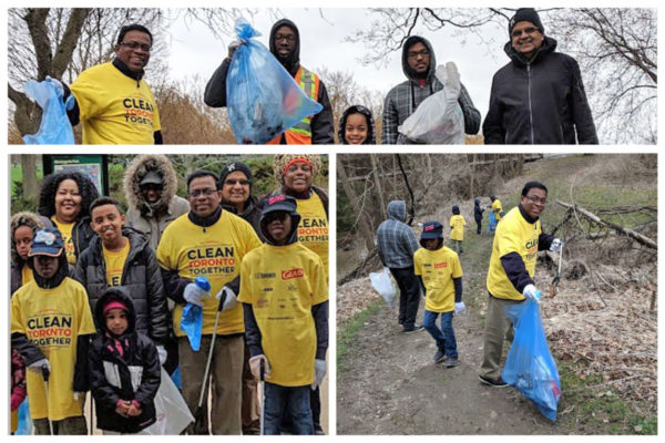 It was a very cold and wet day but Quintus and his team of Volunteers did not let the weather stop them from cleaning-up Morningside Park.