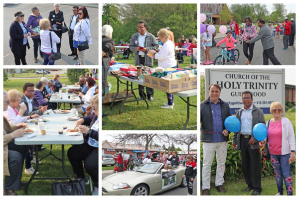 Guildwood Days! Quintus meets many supporters.